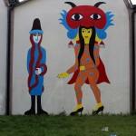 Altri due protagonisti del murale