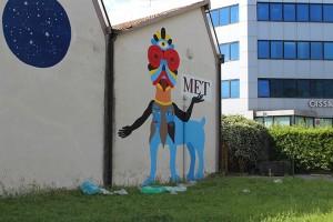 Il murale è su iniziativa del Teatro Metastasio