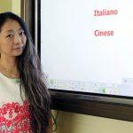 Cristina Ke alla lavagna elettronica