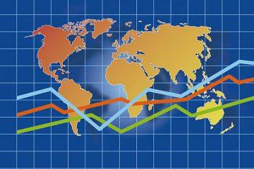 Mappa del mondo con grafico