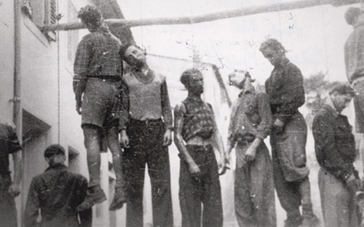 I partigiani impiccati a Figline