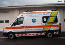 Un'ambulanza della Misericordia di Prato