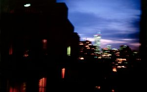 Nan Goldin - Night Vision from my Apartment NYC, 2001