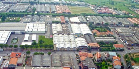 Veduta area della periferia di Prato