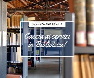 Caccia ai servizi in biblioteca