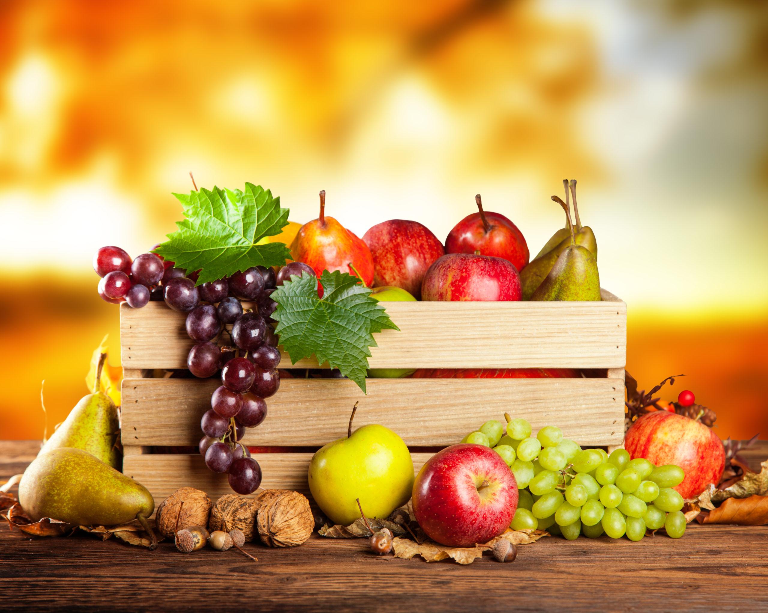 Frutta di stagione in cassetta