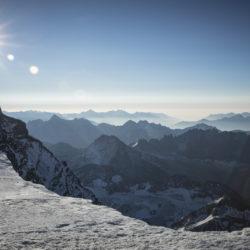 Grand Combin survey 2018 - I ricercatori sul Grand Combin al confine tra Svizzera e Italia (credit Riccardo Selvatico per Cnr e Università Ca' Foscari Venezia)