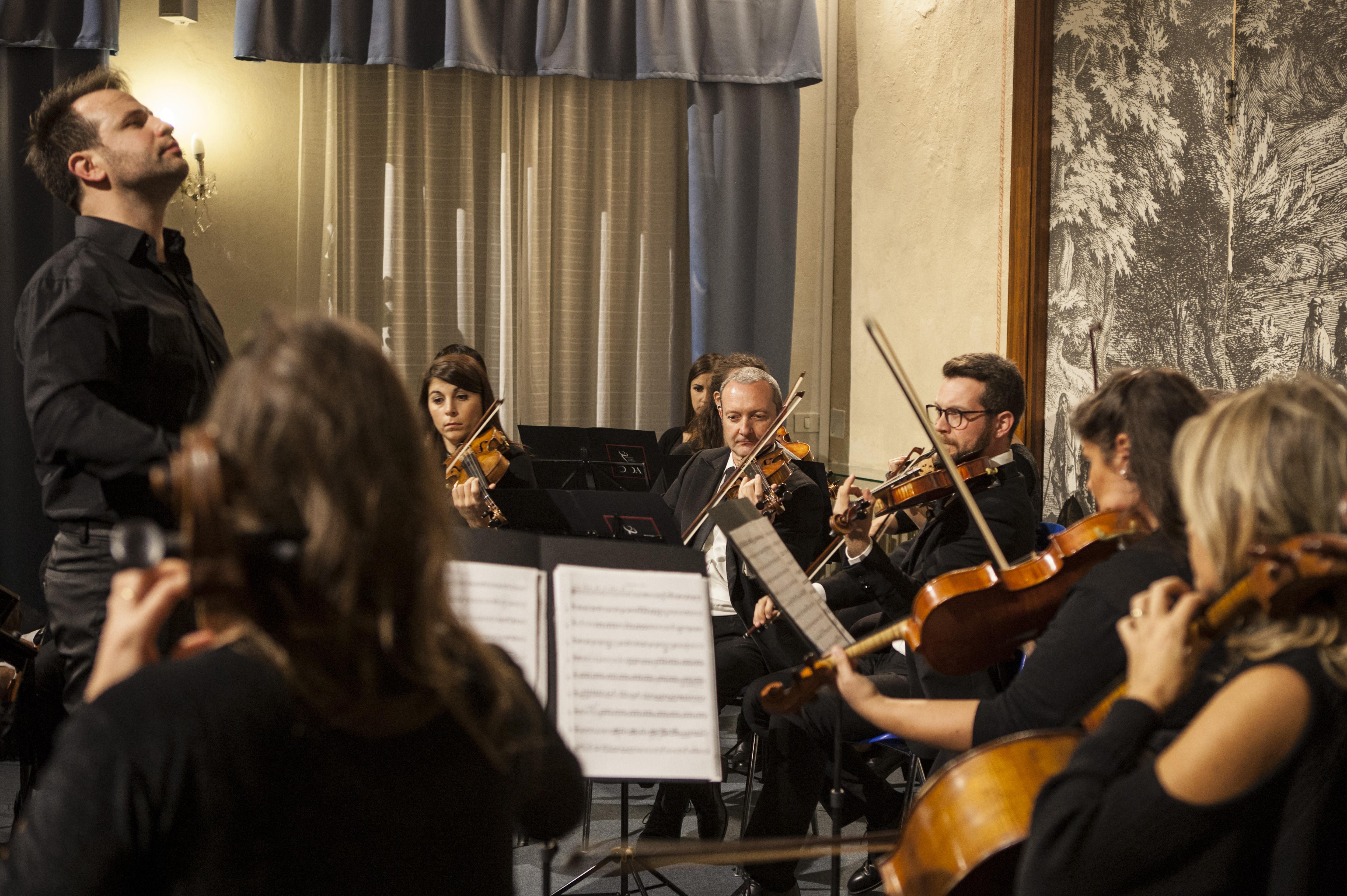 Un momento del concerto che ha inaugurato la stagione dell'Orchestra instabile di Arezzo