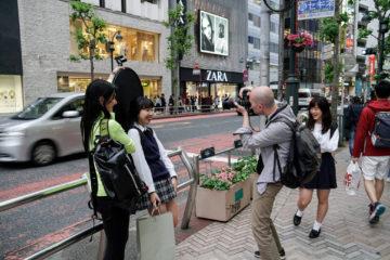 Uno scatto a Tokyo nell'ambito di One world one face