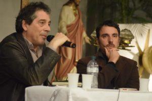 Sandro Veronesi e Mario Desiati durante la presentazione di Cani d'estate (foto di Shaila Bongi)