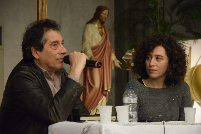 Sandro Veronesi nella chiesa di San Paolo per l'anteprima di Cani d'estate