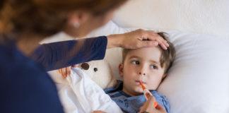 Un bambino alle prese con la classica influenza