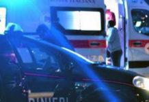 Ambulanza e carabinieri notturna