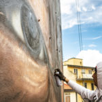 Jorit al lavoro (Marco Borrelli)