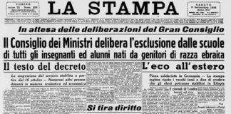La Stampa 1938 - leggi razziali - studenti e studiosi
