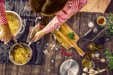 Cuoca italiana trattoria