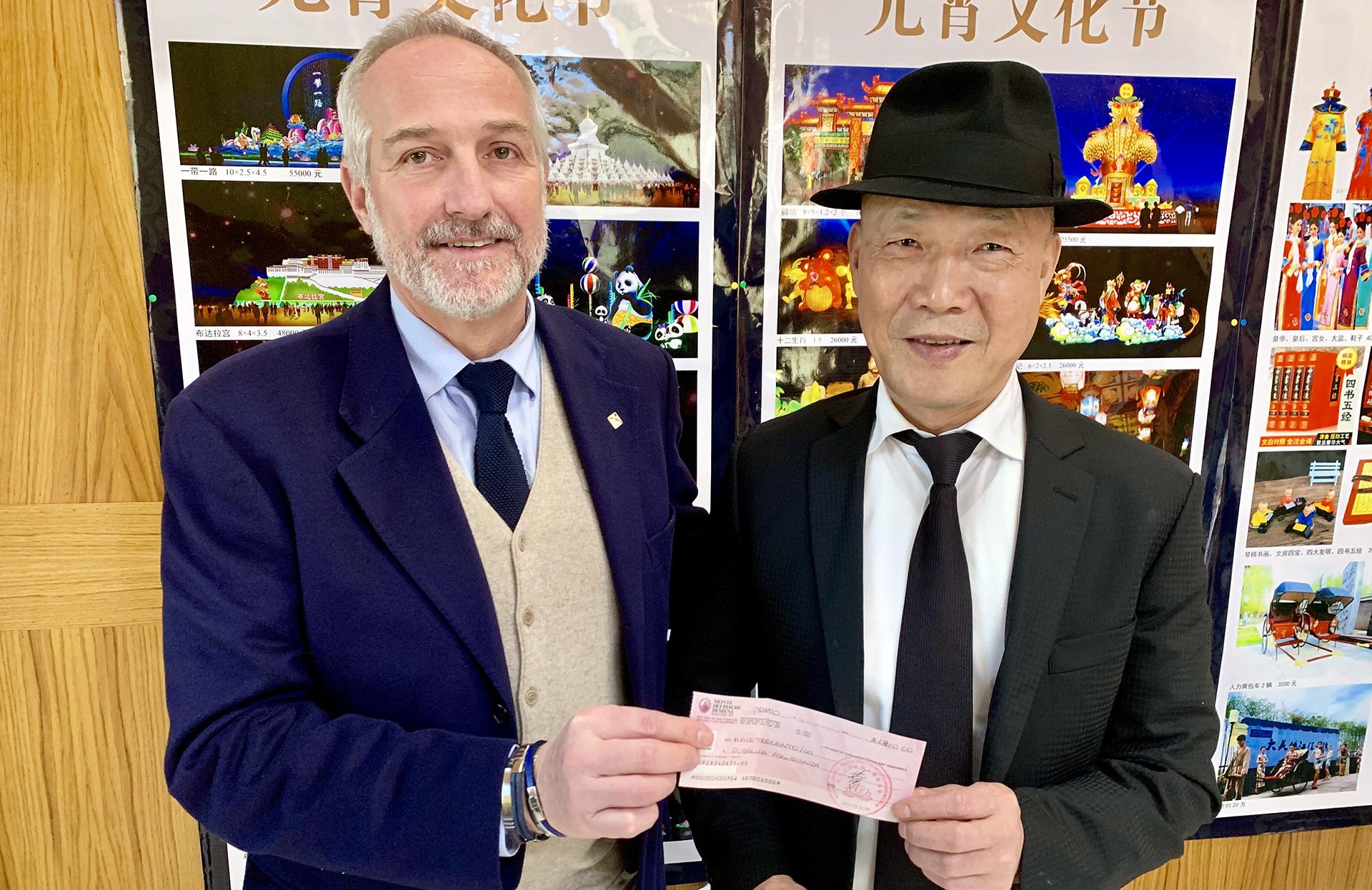 Donazione del tempio buddista Pu Hua Si di Prato