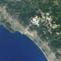 Foto dal satellite di Carrara