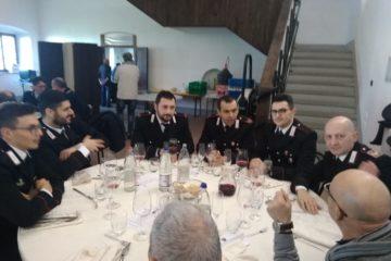 Carabinieri in congedo a pranzo tutti insieme a Vaiano (foto)