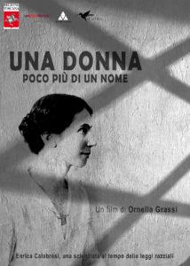 La locandina del film Enria Calabresi, una scienziata al tempo delle leggi razziali