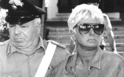 Maria Luigia Redoli il giorno dell'arresto per scontare l'ergastolo