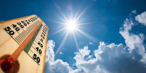 Sole e termometro