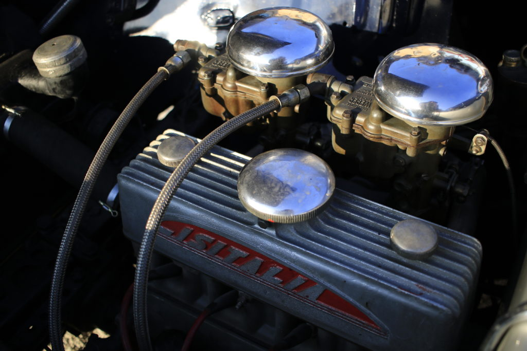 Il vano motore della Cisitalia