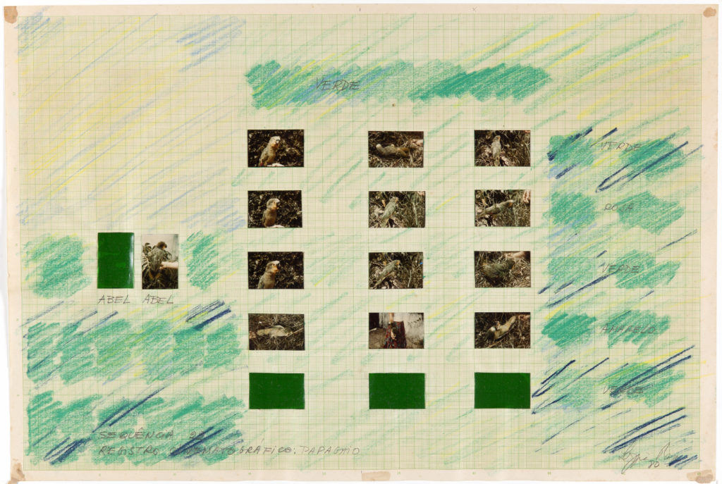 Drawing – Magnetized Spaces, Cinematographic Record, 1980
