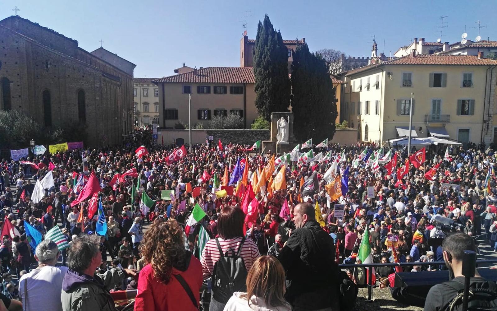 Manifestazione antifascista Prato