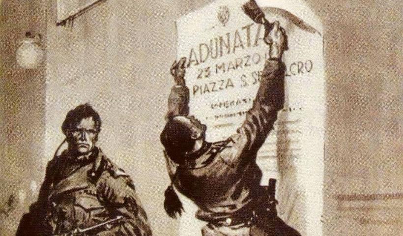 Piazza san sepolcro - centenario del fascismo