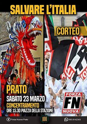Volantino forza nuova centenario del fascismo