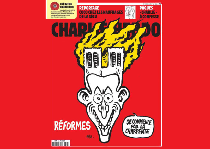 Charlie Hebdo Notre Dame Macron