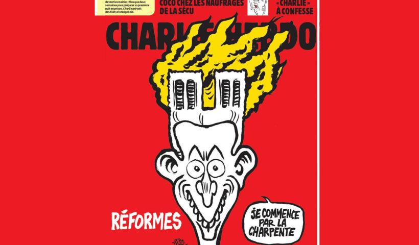 Charlie Hebdo Notre Dame Macron