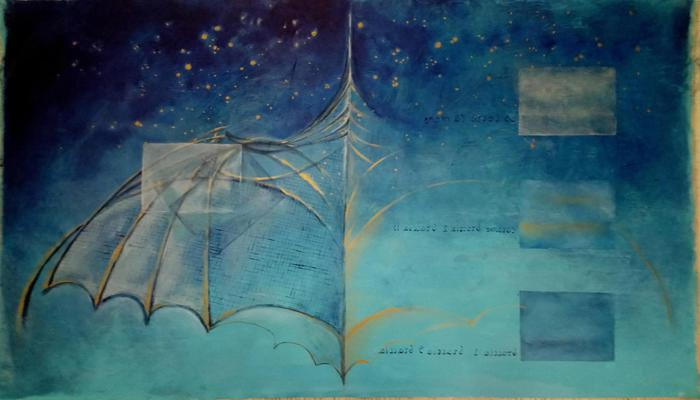 Un'opera di Corrado Veneziano ispirata dal Codice Atlantico di Leonardo da Vinci
