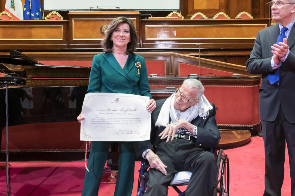 Franco Zeffirelli con Elisabetta Casellati