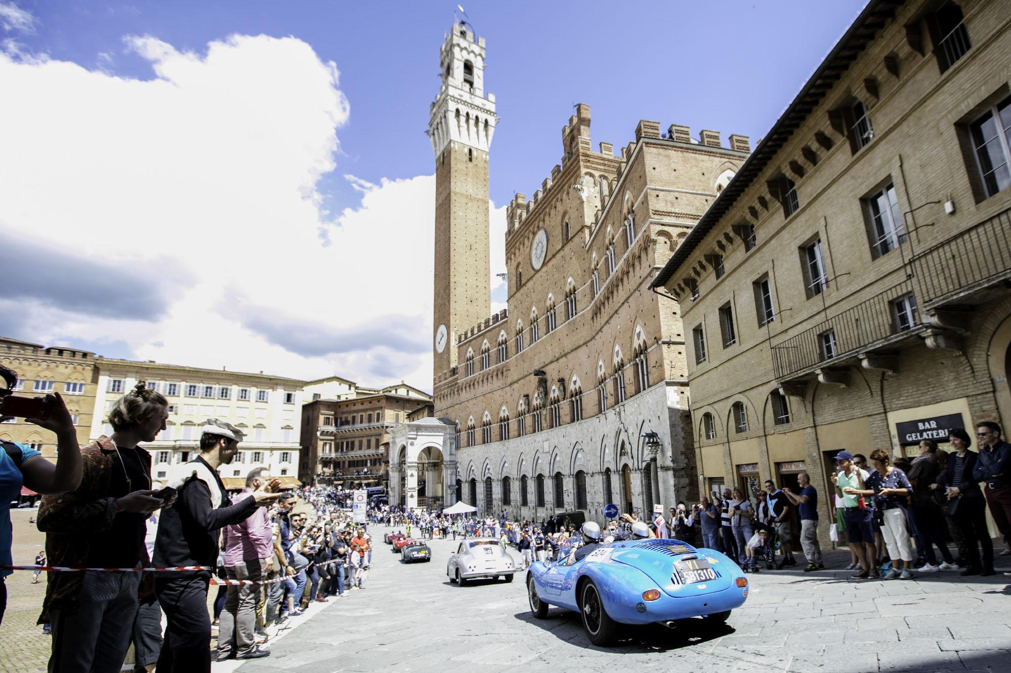 1000 miglia 2018 a Siena