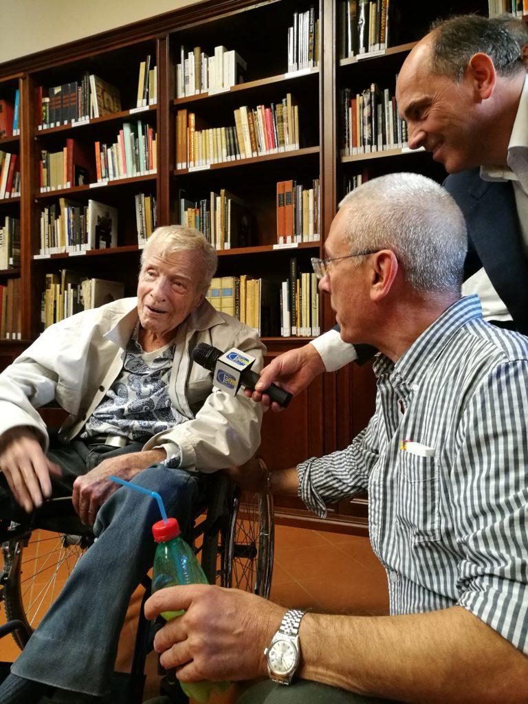 L'ultima visita di Franco Zeffirelli alla fondazione che porta il suo nome
