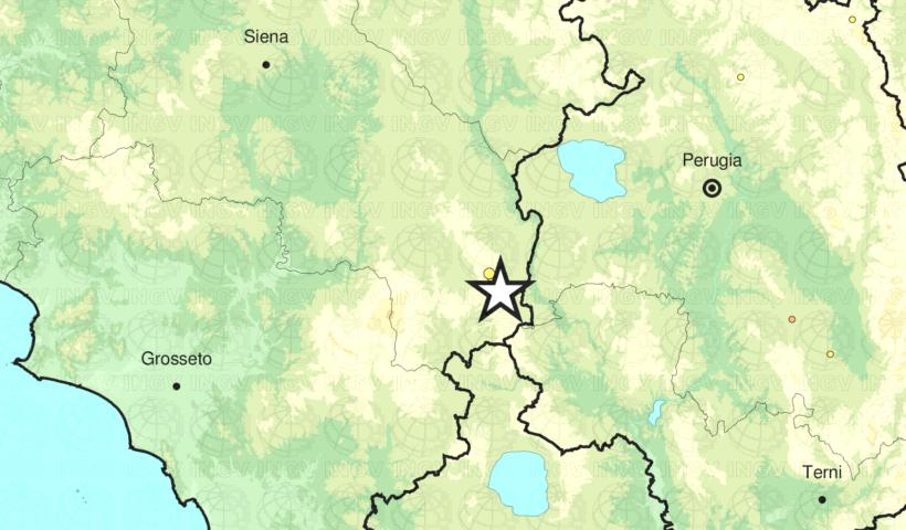 La localizzazione della scossa di terremoto
