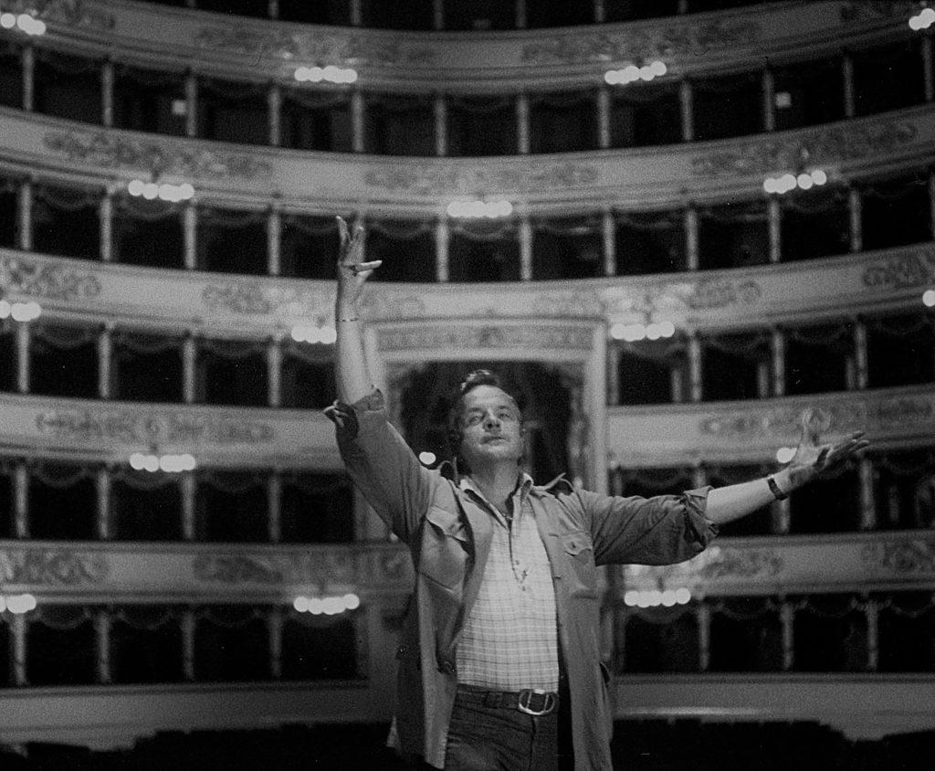 Franco Zeffirelli al teatro alla Scala di Milano