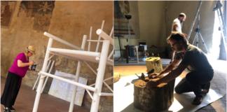 Liber e fili a Mercantia 2019. La preparazione delle due mostre