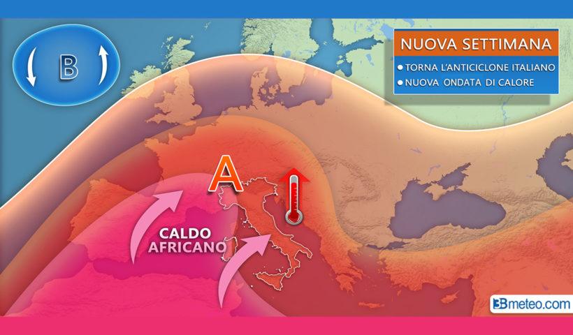 Meteo dal 20 luglio - ondata di calore - 3bmeteo