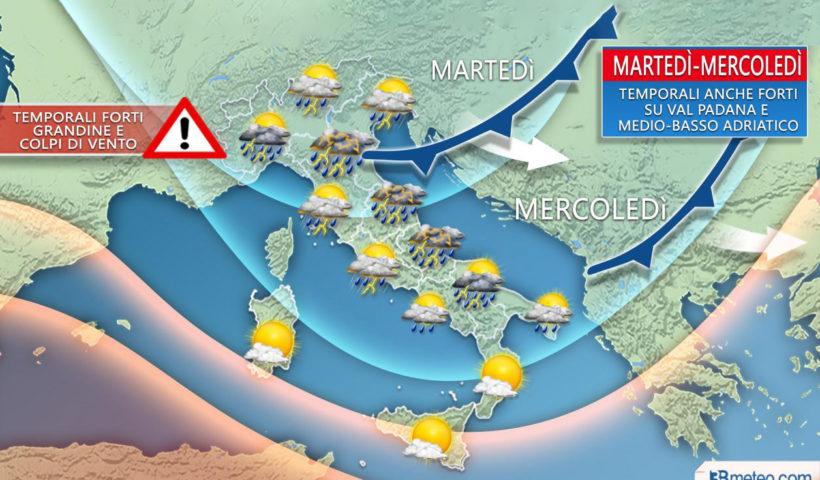 Meteo la situazione sul Mediterraneo