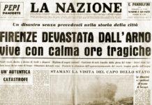 Prima pagina La Nazione alluvione di Firenze