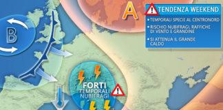 Weekend meteo italia tendenza 24Luglio
