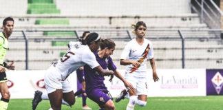 Fiorentina e Roma in azione