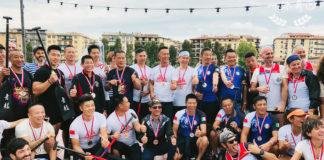 I partecipanti al Dragon Boat