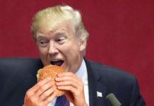 Trump mangia schifezze