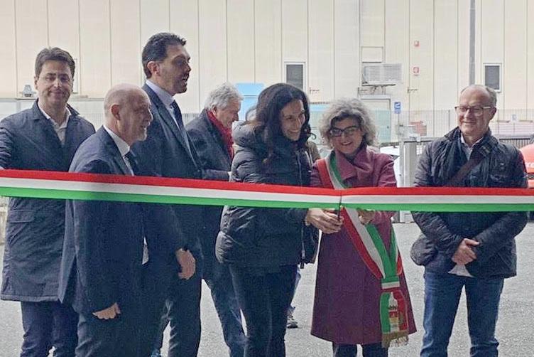 Deposito S. Gimignano_ taglio nastro Assessore Carolina Taddei