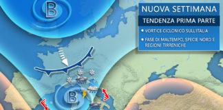 endenza Nuova settimana meteo italia