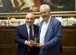 Rocco Commisso e Eugenio Giani